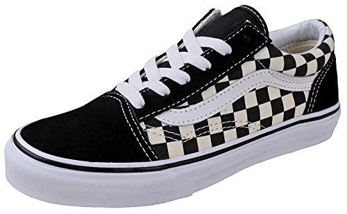 Vans Kids K Old Skool Primary Check Black White, 3 Little Kid