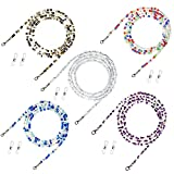 5 Pack Multifunction Glasses Lanyard,Premium Beaded Eyeglass Necklace Chain Cord,, Eyeglass Beaded Chains and Cords, Comfortable and Convenient, Suitable for Women, Kids, Elderly