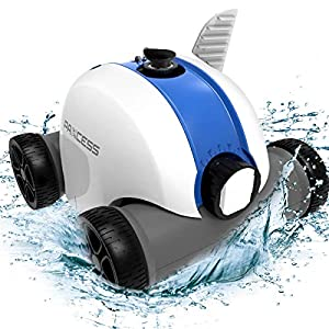【Convenient Robotic Pool Cleaner】PAXCESS cordless automatic pool cleaner is the most innovative pool robot cleaner for Max.100㎡ inground pools/above ground pools. Put aside the restraint of the power cord, our cordless pool cleaner robot is equipped ...
