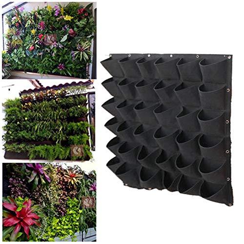 Esplic Filz hängende Pflanzer-Taschen, 18 Taschen vertikal an der Wand befestigte Grow Bags Wurzelschutztasche für Höfe, Wohnungen, Balkone, Innenhöfe, Schulhöfe und Gärten (Pflanzen Nicht enthalten)