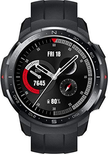 HONOR Watch GS Pro Smartwatch (35 mm AMOLED-Display, SpO2-Messung, Herzfrequenzmessung, Musik-Steuerung & Bluetooth Telefonie, 50 m Wasserdicht, GPS) Schwarz [Exklusiv+5 EUR Amazon Gutschein]