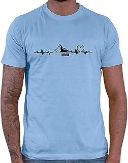HARIZ Mountain Plus - Camiseta de Snowboard para Hombre, diseño de montañas de Invierno
