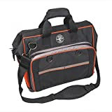 17-1/2' Electricians Tool Bag, 78 Pockets, Black/Orange