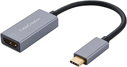 USB C to HDMI 4K @60Hz, CableCreation USB Type C to HDMI Adapter, Compatible with MacBook Pro 2018,iPad Pro 2018,Surface Go, Chromebook Pixel,Yoga 920, XPS 13,Samsung S9, Work withThunderbolt 3