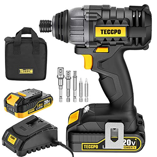 Impact Driver, 20V 2.0Ah Impact Drill, 1600In-lbs MAX Torque, 1-Hour Fast Charger, 1/4' All-metal Hex Chuck, Bag Included