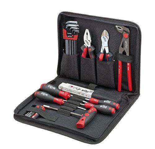 Wiha Werkzeug Set Mechaniker, 31-tlg., inkl. Praktische und stabile Tasche und hochwertigem Werkzeug, robust und platzsparend, Bestückung für die gängigsten Anwendungen