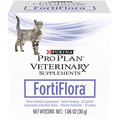 Purina Pro Plan Veterinary Supplements Probiotics Cat Supplement, Fortiflora Feline Nutritional Supplement - 30 ct. Box