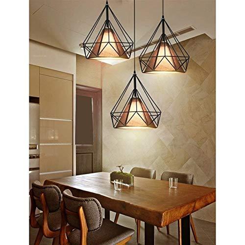 SWNN Chandelier Kronleuchter Einfache Moderne Wohnzimmer Retro Bar Cafe Restaurant DREI Eisen Kronleuchter (Color : Black)