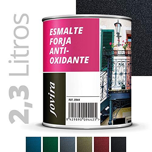 ESMALTE FORJA ANTIOXIDANTE, proteccion y decoracion sobre acero. (2.3 LITROS- 4 Kilos NEGRO)