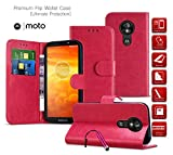 Motorola One Action Case Premium Leather Wallet Case with