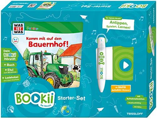 BOOKii Starter-Set WAS IST WAS Junior Komm mit auf den Bauernhof Hörstift mit Aufnahmefunktion Junior Buch Komm mit auf den Bauernhof!