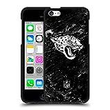 Head Case Designs Licenciado Oficialmente NFL Mármol Jacksonville Jaguars Artwork Funda de Gel Negro Compatible con Apple iPhone 5c