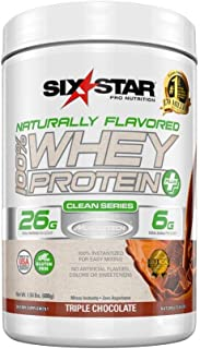 Six Star Naturally Flavored Whey Protein Plus Chocolate, 1.5 Pound