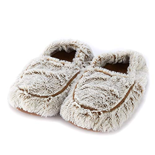 Intelex Warmies Microwaveable Slippers for Women (Marshmallow Brown)