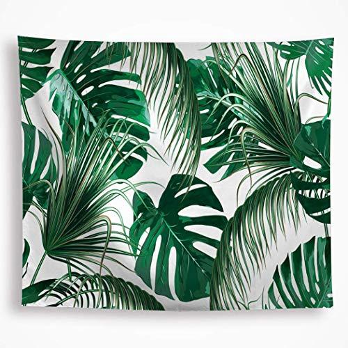 Tapiz de hojas tropicales para colgar en la pared, diseño de hojas de plátano, color verde