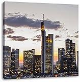 Wolkenkratzer bei Sonnenuntergang, Format: 60x60 auf
