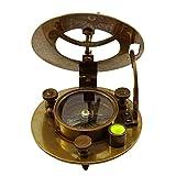 Náutica del reloj de sol Marítima Senderismo Pocket Compass magnética viaje navegación