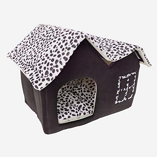 Yoshioe Luxury High End Double Pet House Dog Cat Little House Bed Pets Coffee