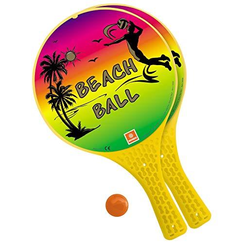 Mondo Toys 15980 Set di 2 Racchette da spiaggia con pallina di gomma, Ø 22 cm