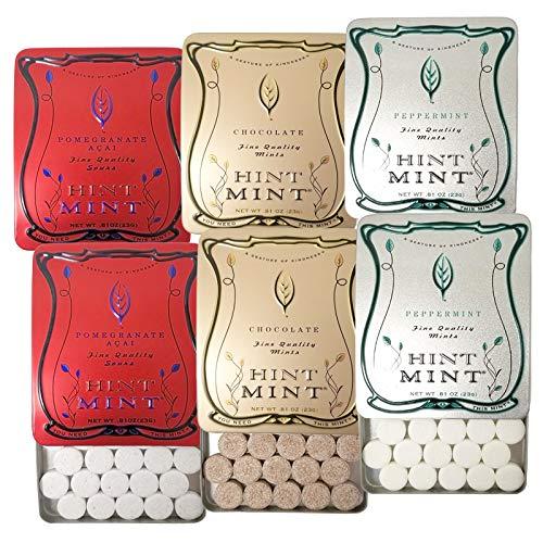 ヒントミント クラシックラベル 3種6個セット (ザクロ&アサイ ペパーミント チョコレートミント 3種×各23g×2個)