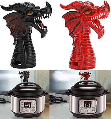 Pressure Cooker Jet Dragon Steam Diverter,Safety Valve,Steam Heat Resistant Exhaust Valve Steam Release Accessory Kitchen Gadget (Black Steam Diverter)
