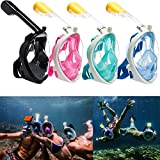 Meneflix Snorkel Mask for Adults, Teens and Kids Compatible Snorkeling Swimming & Underwater
