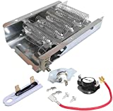 279838 Dryer Heating Element, 279816 Thermal Cut-Off Kit and Thermostat 3392519 dryer thermal fuse Compatible whirlpool,Roper. Replace: 3403585 279816VP 3977393, AP3094244 3388651, WP3392519, 694511