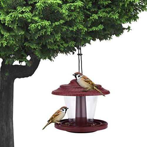 Saingace(TM) Hängende Futterstation, wasserdichte Vogelfutter Distributor Futterspender Fütterung Vogel Futterhaus für Wildvögel Vogelhaus, Vogelfutterstation, Futterhaus, Vogelhäuschen (Rot)