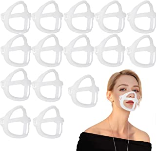 Mask Bracket 3D Face Bracket for Mask Face Mask Inner Support Frame Silicone Bracket for Comfortable Mas-k Wearing Cool Makeup Lipstick Protection Stand Mouth Breathing Bracket