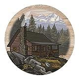 Thirstystone Drink Coaster Set, Mountain Cabin