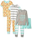 Spotted Zebra Girls' Toddler Snug-Fit Cotton Pajamas Sleepwear Sets, 6-Piece Kitties, 3T