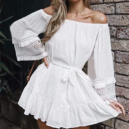 GUOQUNUP Jupe De Plage Cover-Ups blanc Cotton Tunic plage Robe été Tunic for femmes plagewear maillot de bain Cover Up plage femme Sarong Palge
