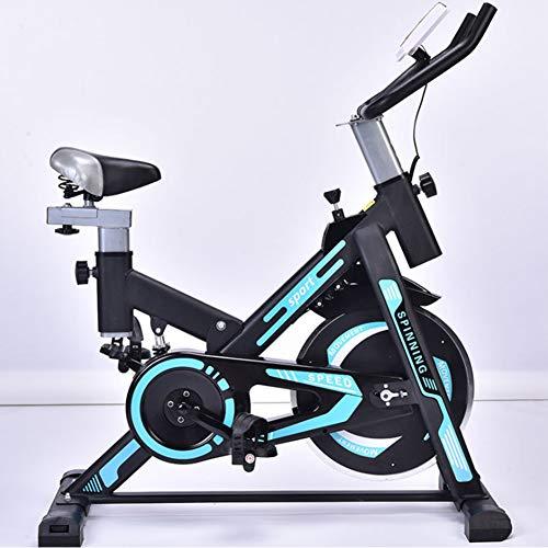 YI'HUI Bicicleta Estática De Spinning Deportiva para Estudio,Cardiovascular, Ciclismo, Hogar, Gimnasio, Monitor LED, Bicicleta Estática con Sensores De Pulso De Mano, Plegable, Unisex,Negro