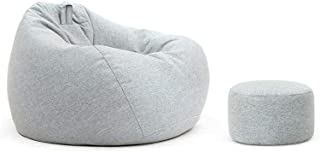 MUHONG Bean Bag Chair Outdoor Gaming Lounger Chair And Footstoolkids Lounge Chair A 110CM 90CM