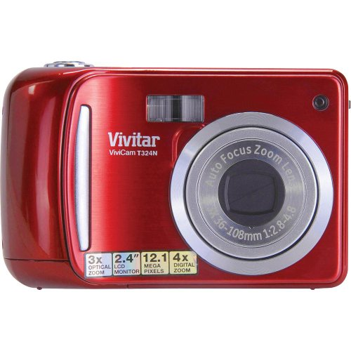Vivitar 12.1MP HD Digital Camera with 2.4-Inch LCD VT324-STRAWBERRY