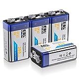 EBL 280mAh 9V Block Akku NI-MH Wiederaufladbare Batterie mit Aufbewahrungsbox