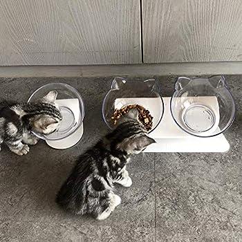 Beito - Gamelle pour chat avec support surélevé, pour chats et chiens de petite taille