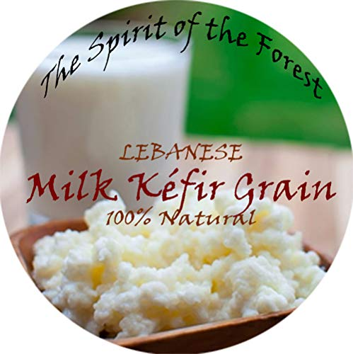 Organic and Original Milk Kefir Lebanese Grains - Fresh Live Active Probiotic Starter Cultures (1 TBSP)