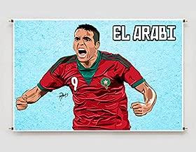 Youssef El-Arabi Morocco Art Poster Photo Print Decor Fifa Soccer Football Artwork (A3 size (297×420 mm (11,7×16,5 inches))