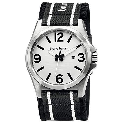 Bruno Banani Herren-Armbanduhr XL Teris Analog Nylon BR21031