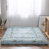 Q Antique Floral Korean Floor Mattress Japanese Futon Mattress, Thick Foldable Tatami Mattress, Can Roll Up Camping Mattress, Mattress and Sofa Mattress,(Size:120200CM,Color:C)