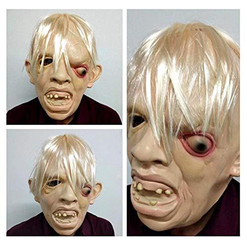 arbitra per Máscara de Miedo de Halloween Disfraz Fiesta Fiesta Carnaval Cosplay Transpirable Duradero Flexible Very Well