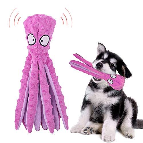 Yisscen Hundespielzeug, Quietsch Spielzeug für Hunde, Intelligenz Kauspielzeug, Hundetraining Spielzeug, Tintenfisch Spielzeug, Plüschstoff Spielzeug für Welpen, Kleine und Mittelgroße Hunde