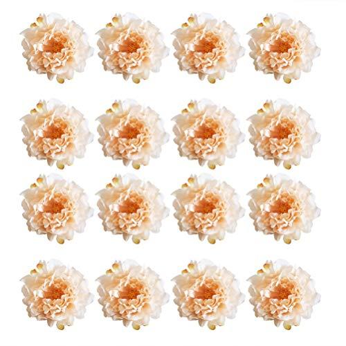 Clispeed 24pcs crepe fiori peonia artigianali fiori teste di fiori artificiali fiori di seta per la cerimonia nuziale mazzi centrotavola partito decorazioni baby shower