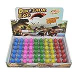 Yeelan Huevos de Dinosaurio Huevo de incubación Crecimiento de Huevo de dragón para niños tamaño pequeño Paquete de 60pcs (Grieta Colorida)