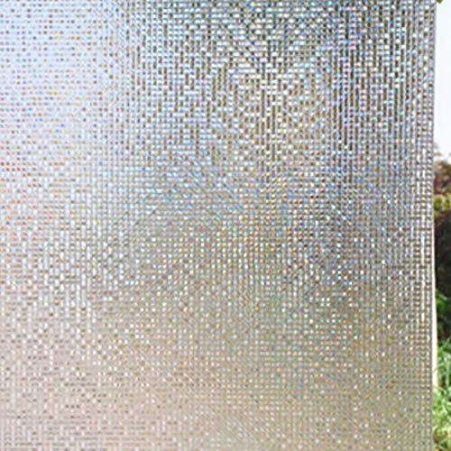 3D Deur Privacy Venster Film, Statische Cling Venster Vinyl, Deur Raambekleding, Verwijderbare Venster Sticker, UV Blokkerende Bloeiende Bloemen 45x100cm 02