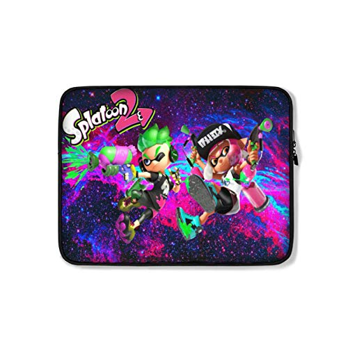 Spla-toon Laptop Sleeve Bag, Notebook Computer Plush Inner Liner Bag, Padded Computer Case with Zip Close and Clip-in Storage Pouch for Accessories