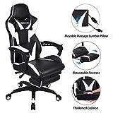 ELECWISH Massage Computer Gaming Chair Reclining Ergonomic Racing Office Chair