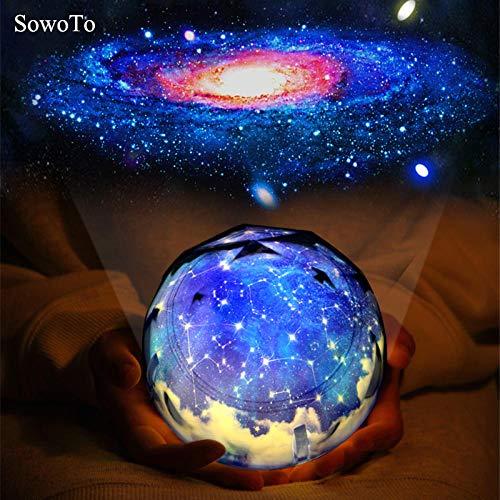 Couleur Interstellaire Créatif Nuit Lumière Planet Magic Projecteur Univers Lampe LED Musique Rotatif Clignotant Projecteur Étoilé, Charging_MP3