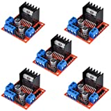 HiLetgo 5pcs L298N Motor Driver Controller Board Module Stepper Motor DC Dual H-Bridge for Arduino Smart Car Power UNO MEGA R3 Mega2560